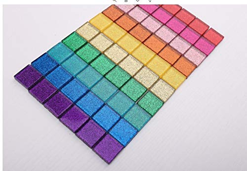 UW 3/4 inch Multiple Colors Spakle Glass Mosaic Tiles Large Piece Supply for Artcraf and DIY Handmade (20mm per Piece,1000g/2.2lb) ()