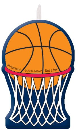 Sports and Tailgating NBA Party Birthday Cake Candle Set Decoration, Wax, 2