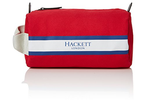 Hackett London Organizer Washbag Red Rosso Uomo borsa Fawley waSwR