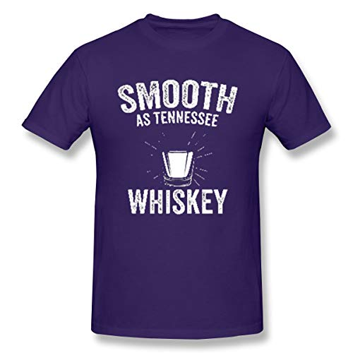 Lanmei Smooth As Tennessee Whiskey Men's Short Sleeve Shirt 4XL Purple]()