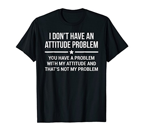 I Don't Have An Attitude Problem T-shirt Funny Sarcasm Tee