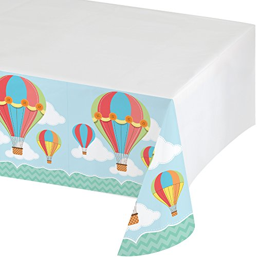 (Creative Converting Up, Up & Away Plastic Tablecover with Border Print, 54 x)
