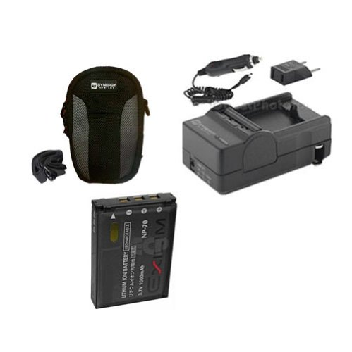 Casio Exilim EX-Z150 Digital Camera Accessory Kit Includes: SDCANP70 Battery, SDM-199 Charger, SDC-21 Case