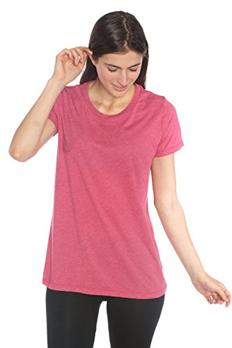In Touch Organic Cotton Recycled Plastic Crew Neck Tee - Women's Organic Yoga Clothes, Non GMO, Eco Friendly