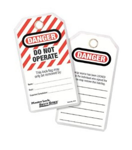 Master Lock Lockout Tagout Tags, Do Not Operate Safety Tag, 497A from Master Lock