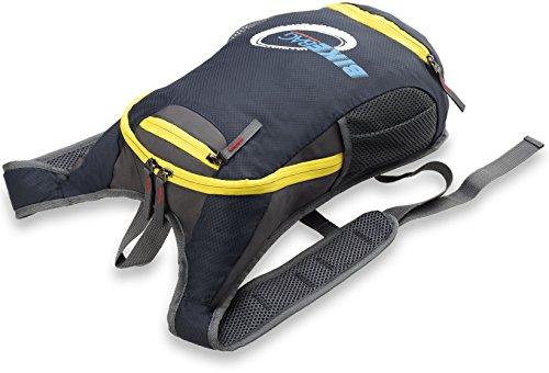 Fahrrad - Rucksack für Herren Bag Street Sporttasche Freizeittasche wasserdichtes Material graphit - gelb