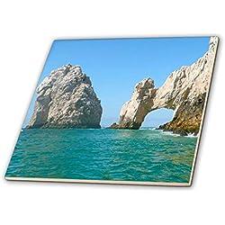 3dRose CT_22787_2 - Azulejos de Cerámica Mexicana con Agujero en el Rock Cabo San Lucas, 15,24 cm
