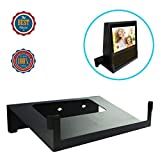 Original Stand Holder Wall Mount Bracket For Echo Show Home Speaker - Change (Camera's) Angle and Protect Your Show Home Speaker Charger Cords Organizor, Easy to Install (Black Solid Metal)