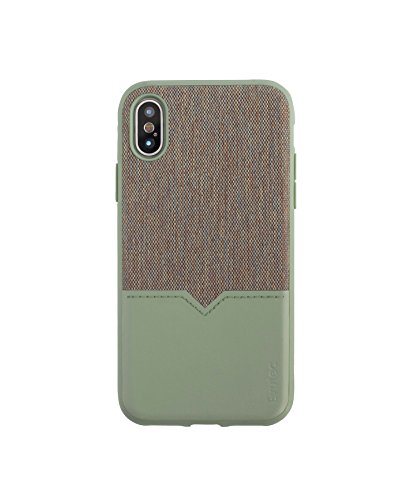 Evutec Case Compatible with iPhone Xs & iPhoneX, Northill Series Premium Leather + TPU Shockproof Interior Drop Protective Case-Chroma/Sage (AFIX+ Vent Mount Included)