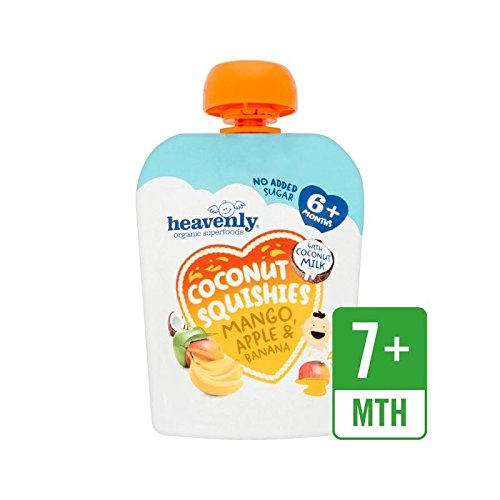 Heavenly Organic Coconut Squishies Mango, Apple & Banana 90g - Pack of 2