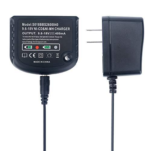 Epowon 18V Replacement Multi Volt Charger for Black+Decker 9.6V-18V NiCad & NiMh Slide Battery HPB18 HPB18-OPE HPB14 HPB12 HPB96 244760-00 A1718 A18 A18E FSB18
