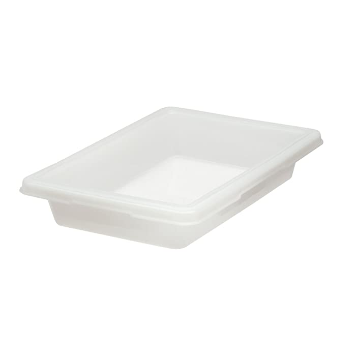 Rubbermaid Commercial Food Tote Box, 2 Gallon, White, FG350700WHT