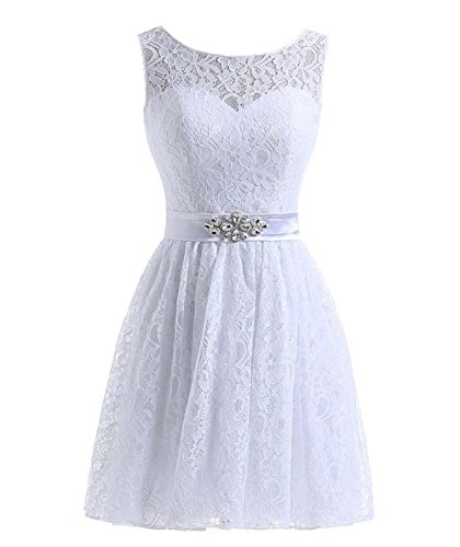 Simple Design Beach Wedding Bridesmaid Dresses White Short Formal Gown