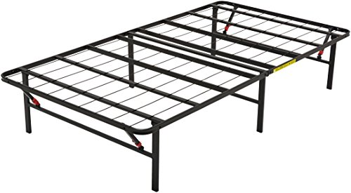 AmazonBasics Foldable Metal Platform Bed Frame for Under-Bed Storage - Tools-free Assembly, No Box Spring Needed - Twin (Teens Frames Bed)
