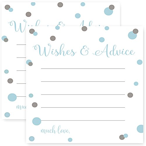 (Mod Advice Cards for Boys Baby Shower Blue Game Set of 25)