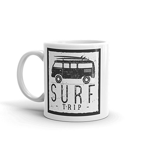 Surf Trip 10oz Coffee Tea Mug #7616 (Best Surf Trip Destinations)