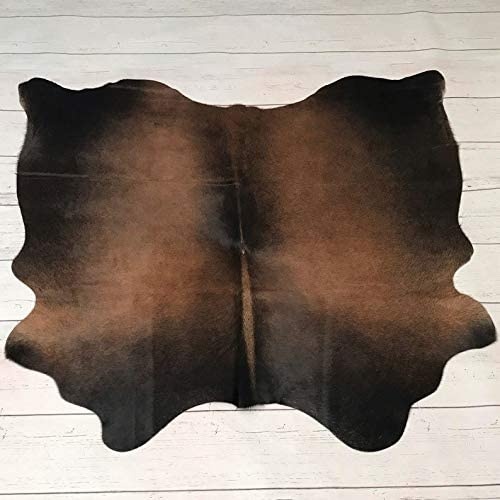 Large Cowhide Rug Western Brown Black Mahogany Cowhide Rug Natural Brown Cow Hide Rug, Best Cow Hides Area Rug 5 ft X 5 ft