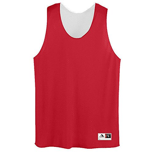 Augusta Sportswear Men's Tricot mesh Tank, Red/White, X-Large