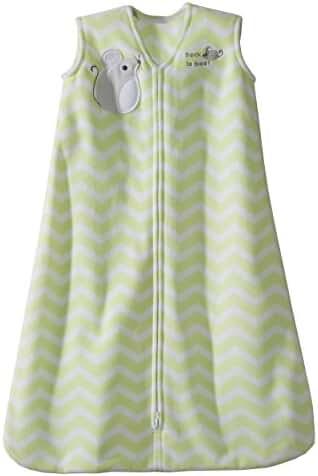 Halo SleepSack Micro-Fleece Wearable Blanket, Green Zig Zag, Small