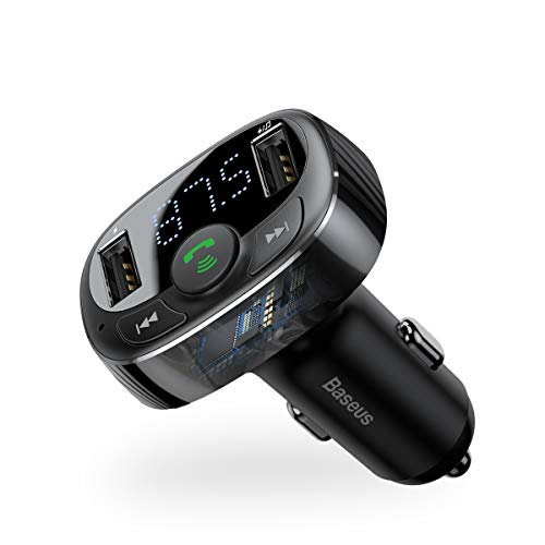 Baseus [Upgraded Version] Blue FM Transmitter for Car
