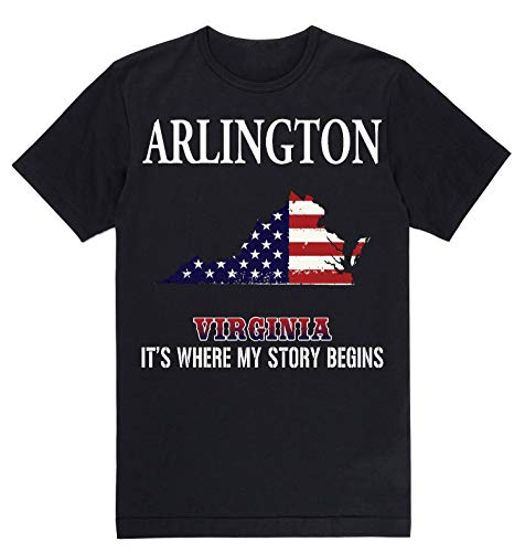 Independence Day Shirt - Arlington Virginia VA It's Where My Story Begins Black for $<!--$23.50-->