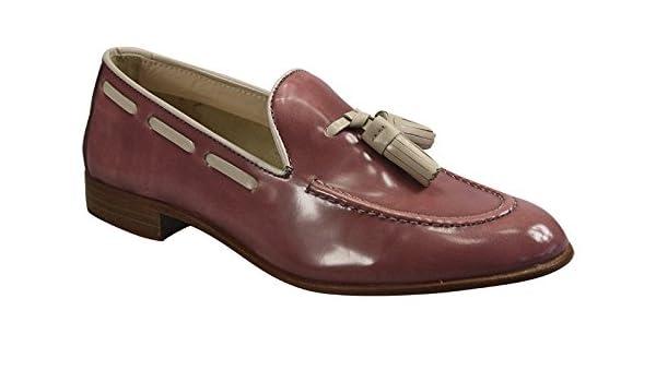 64ba633a Zapatos Para Mocasines Mujer Pertini es Rojo Y Rosa 38 Complementos Amazon  T8WxHnAU