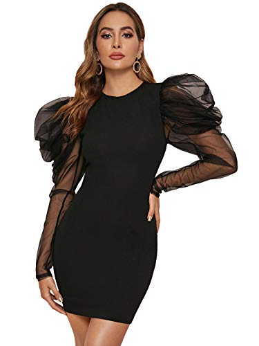 Bodycon Puff Sleeve Dress