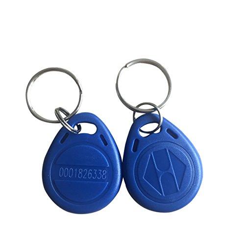 125khz key fob access rfid tag em4100 (pack of 10) (Blue)