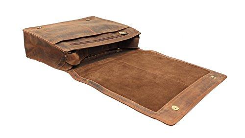 Visconti gran bolsa de cuero engrasado mensajero / portátil 16054 Aceite de Brown Canela Petróleo