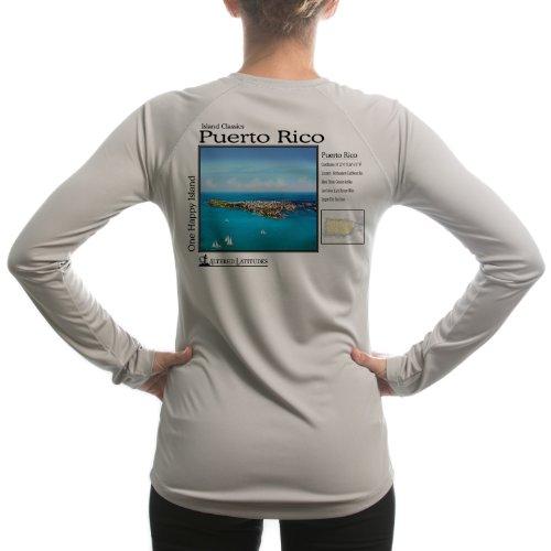 Altered Latitudes Women's Puerto Rico UPF Long Sleeve T-Shirt Large Athletic Grey