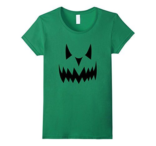 Womens DIY Jack-o-Lantern Costume for Halloween Tee Small Kelly Green