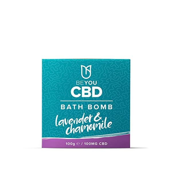 BeYou CBD Infused Bath Bomb 100mg, Soothe Sore Muscles, Relax & Restore Tired Muscles, All Natural