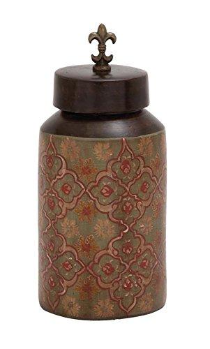 Cotta Finial Terra (Deco 79 24955 Terracotta Painted Jar)