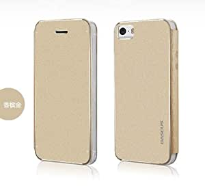 Forester Baseus Light Aluminum Alloy + TUP Material Flip Case for iPhone 5 / 5S (N-Champagne Gold)