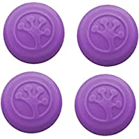 Grip-iT Analog Stick Covers for Xbox 360, Xbox One, PS3 & PS4, 4 Pack (Purple)