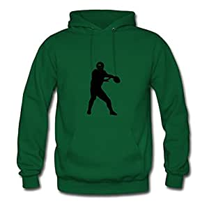 Style Personality X-large Hoody Green Football2 Printed Women Organic Cotton S