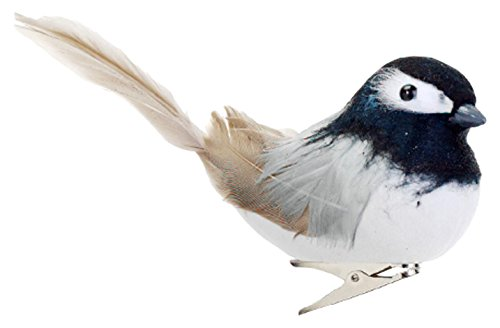 Allstate 5 Feathered Black-Capped Chickadee Clip-On Bird Christmas Ornament