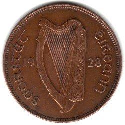 1928 Ireland Large Penny Coin KM#3 - Irish Free State