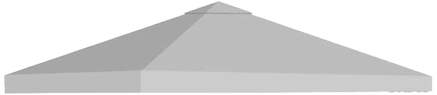 BenefitUSA 10'X10' Replacement Top Gazebo Canopy Cover Patio Pavilion Sunshade Plyester single tier (Grey)