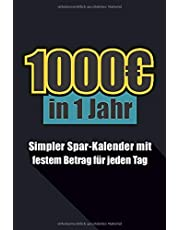 1000€ in 1 Jahr: Simpler Sparen Kalender im Kleinformat 52 Wochen