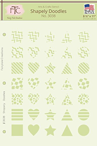 Stencil Doodle (Fairytale Creations Shapely Doodles Geometric Stencil, 8.5