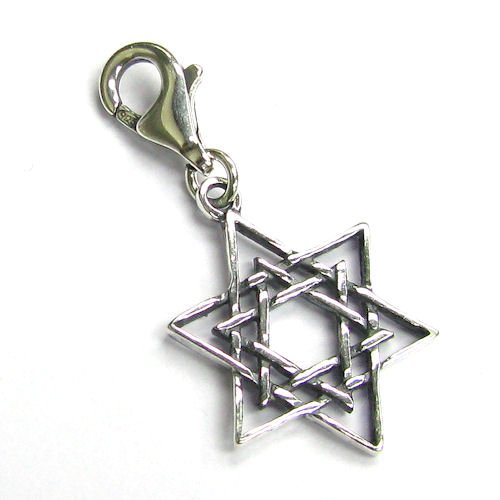 Dreambell .925 Sterling Silver Magic Star Of David Dangle Bead Pendant Clasp European Lobster Trigger Clip On Charm