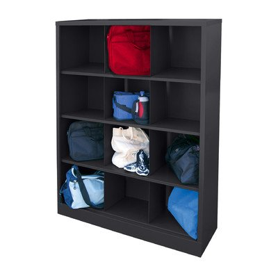 (Sandusky Lee IC00461866-09 Heavy Duty Welded All Steel Cubby Storage Cabinet with 12 Sections, 46