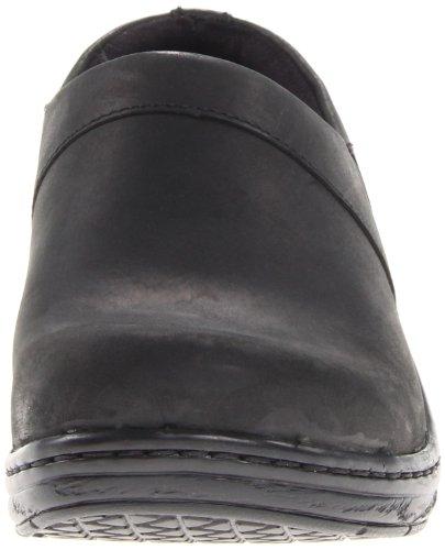 KLOGS Footwear Nursing Clog Mission Oiled Back Black Closed Women's rrnwqOR6