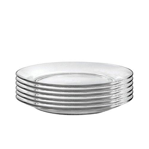Duralex Lys Dinner Plate 11 Inch 28 Cm Set of Six, Clear