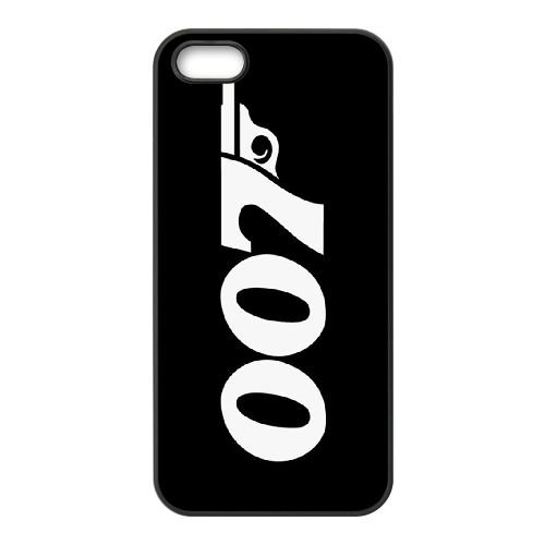 C8B29 James Bond D5W0DK coque iPhone 5 5s cellule de cas de téléphone couvercle coque noire DH1DFK7TE
