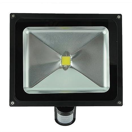 50W LED Foco - SODIAL(R) LED Foco Luz de inundacion Faros + sensor