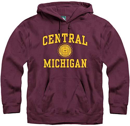 Ivysport Central Michigan University Chippewas Hooded Sweatshirt, Legacy, Maroon, Large