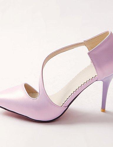 tacones Viola 5 ® di ZQ UK3 Scarpe Beige CN43 CN35 puntiagudos 5 vestido semicuero negro EU36 mujer 5 Viola ¨ tac stiletto US5 UK8 EU42 US10 Viola 5 n tacones 5g484Xwxq
