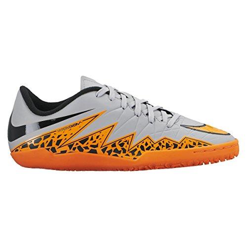 Nike Jr Hypervenom Phelon II IC Jungen Fußballschuhe wolf grey/total orange-schwarz